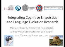 PLM2012 Coverage: Pleyer & Winters: Integrating Cognitive Linguistics and Language Evolution Research